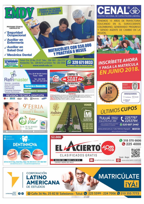 Tulua 1084 - 16 de marzo 2018 by El Acierto - issuu 991af29b3e3