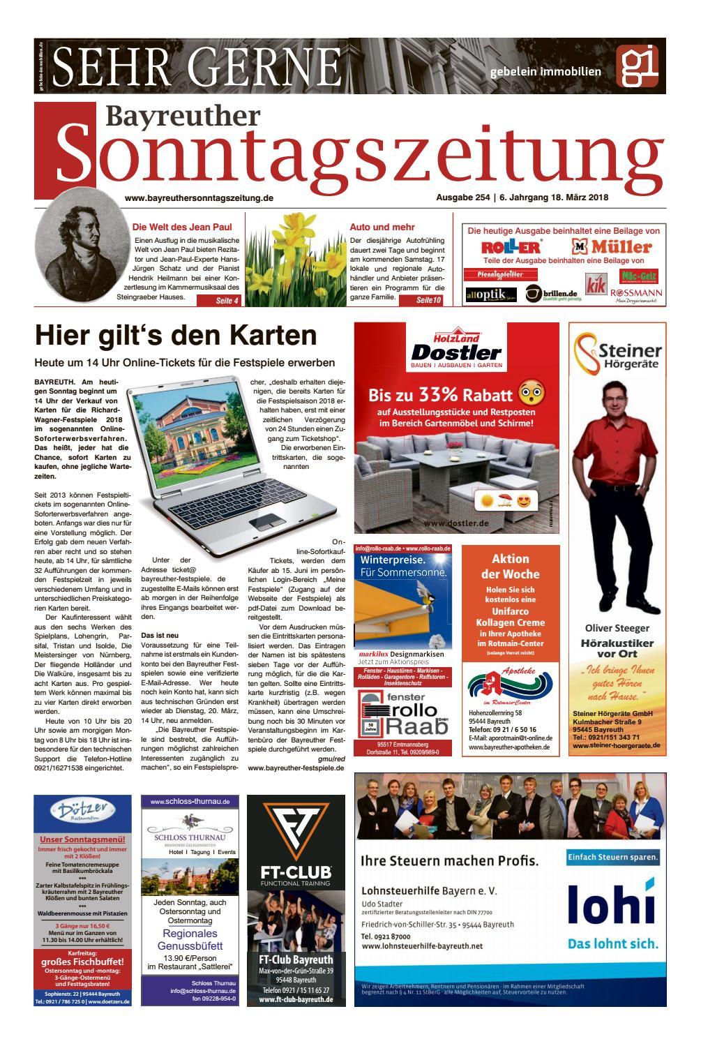 Bayreuther sonntagszeitung vom 18 03 2018 by Bayreuther ...