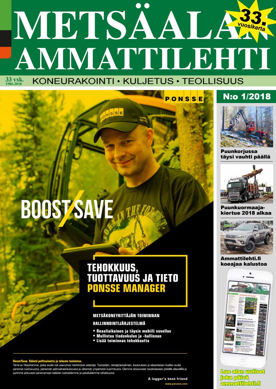 Metsäalan Ammattilehti 1 2018 by Ammattilehti.fi - issuu d0e3e1d5ff