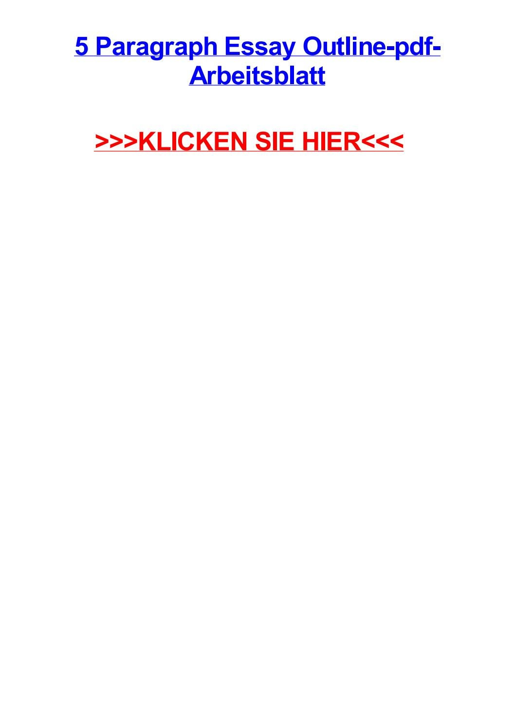 5 paragraph essay outline pdf arbeitsblatt by markwziaz - issuu
