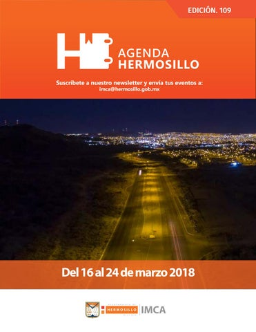 "Cover of ""Agenda Hermosillo 16 mar 2018"""