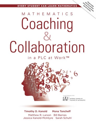 Mathematics Coaching and Collaboration in a PLC at Work™ by Solution ...