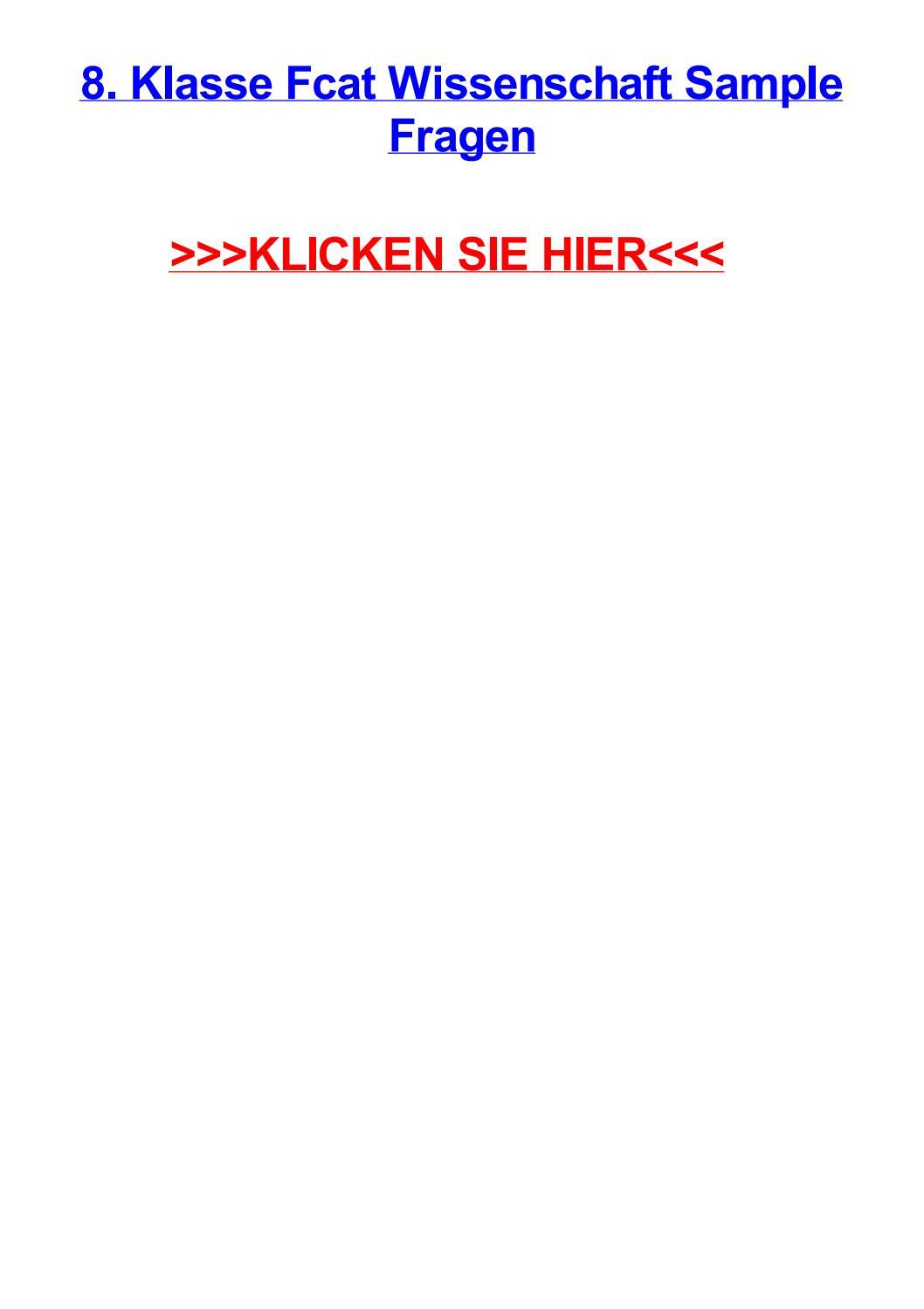 8 klasse fcat wissenschaft sample fragen by reneenkmf - issuu