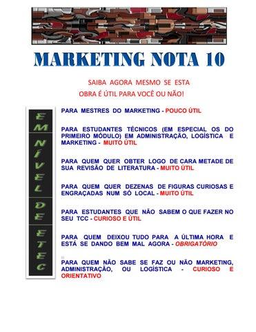 ed4a8e92f4 APOSTILA DE MARKETING PARA INICIANTES - MARKETING NOTA 10