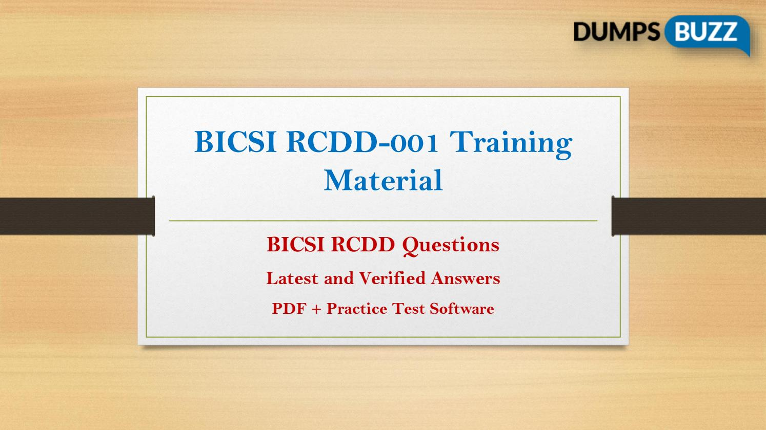 Latest And Updated Bicsi Rcdd 001 Test Questions By Mark Wilson Issuu