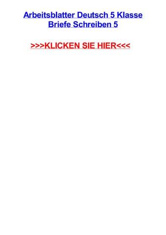 Arbeitsblatter Deutsch 5 Klasse Briefe Schreiben 5 By Michaelrklc