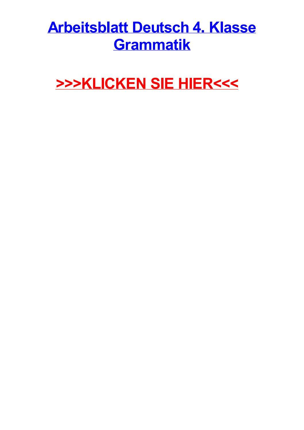Arbeitsblatt deutsch 4 klasse grammatik by christinexlrax - issuu