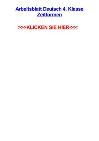 Arbeitsblatt deutsch 4 klasse zeitformen by jodyqbde - issuu