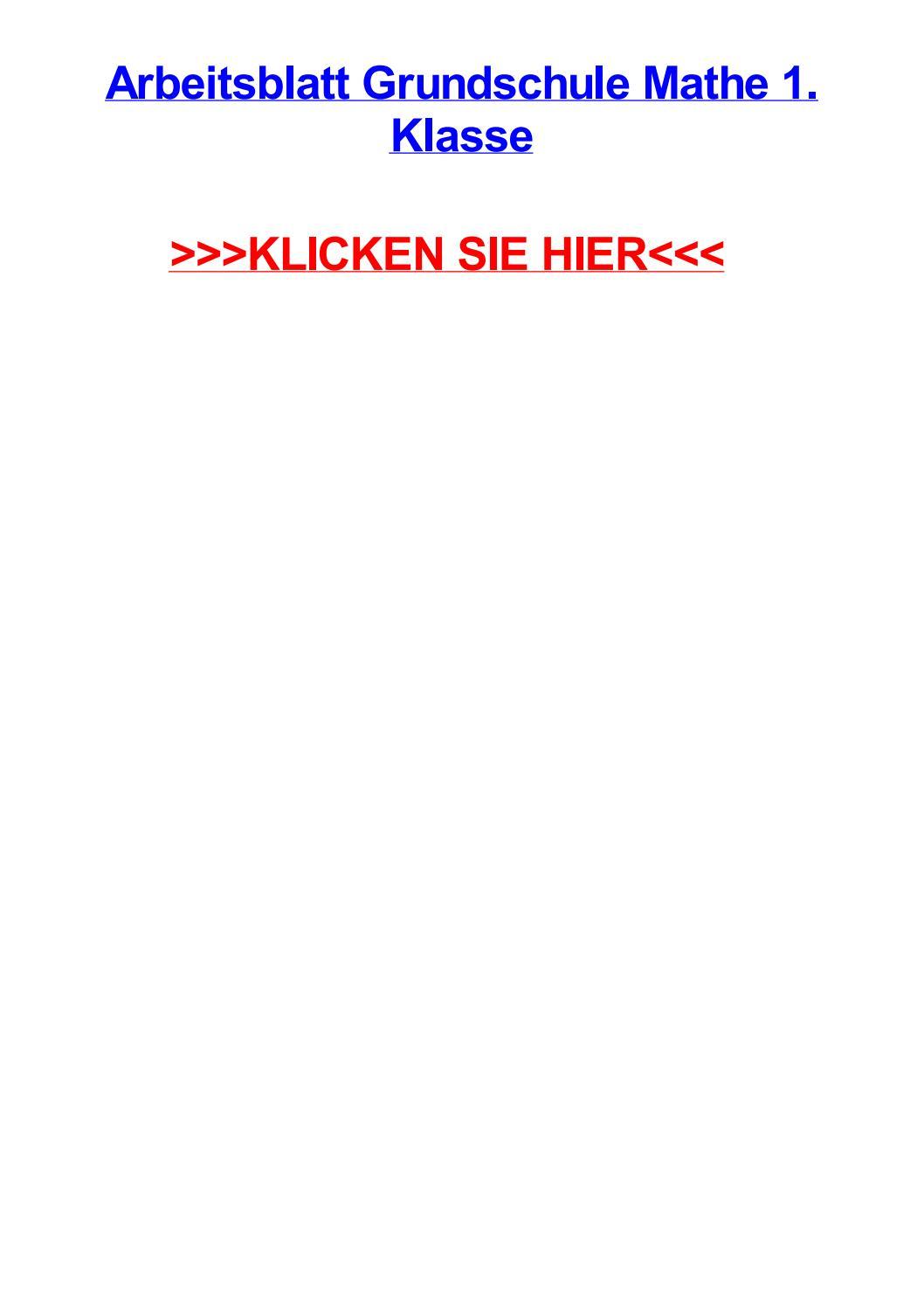 Arbeitsblatt grundschule mathe 1 klasse by jeniferrmust - issuu