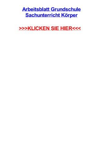Arbeitsblatt grundschule sachunterricht krper by brittanytiho - issuu