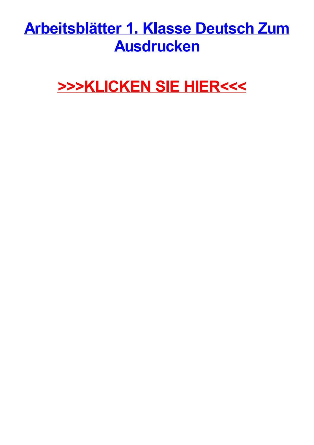 Arbeitsbltter 1 klasse deutsch zum ausdrucken by maryufgb - issuu
