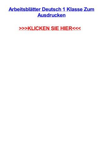 Arbeitsbltter deutsch 1 klasse zum ausdrucken by amberghnt - issuu