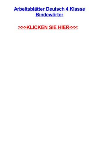Arbeitsbltter deutsch 4 klasse bindewrter by katienuifk - issuu