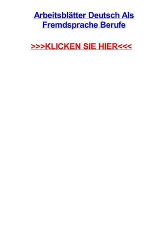 Arbeitsbltter deutsch als fremdsprache berufe by lanavixy - issuu