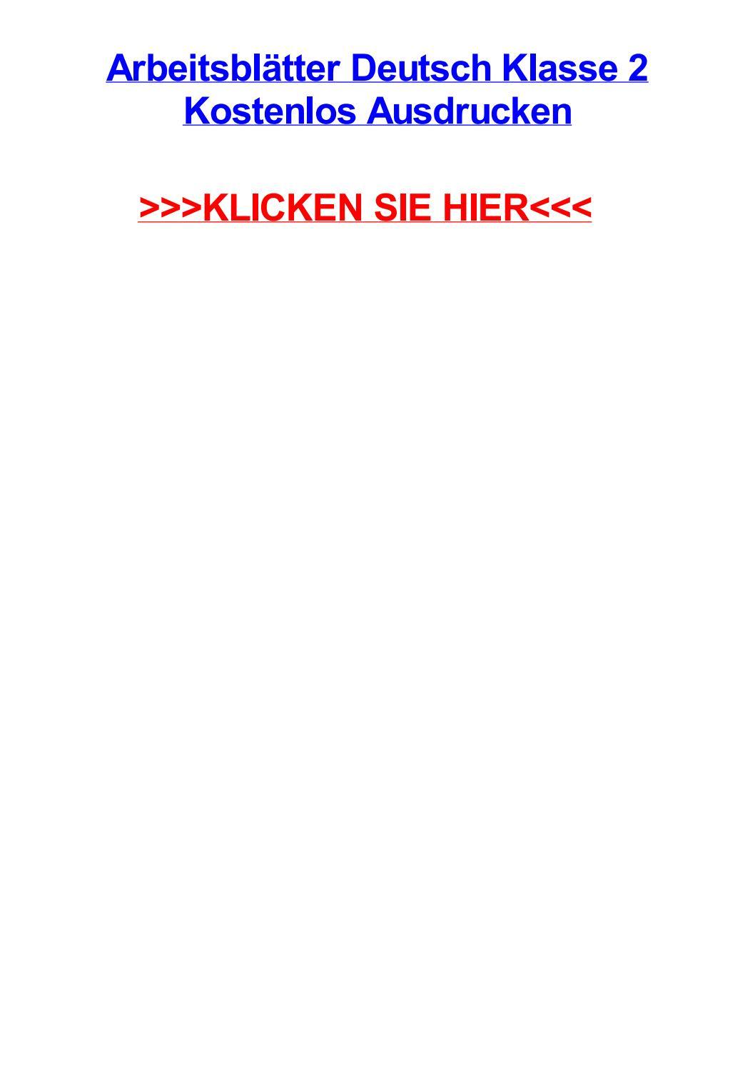 Arbeitsbltter deutsch klasse 2 kostenlos ausdrucken by heatherzyhbo ...