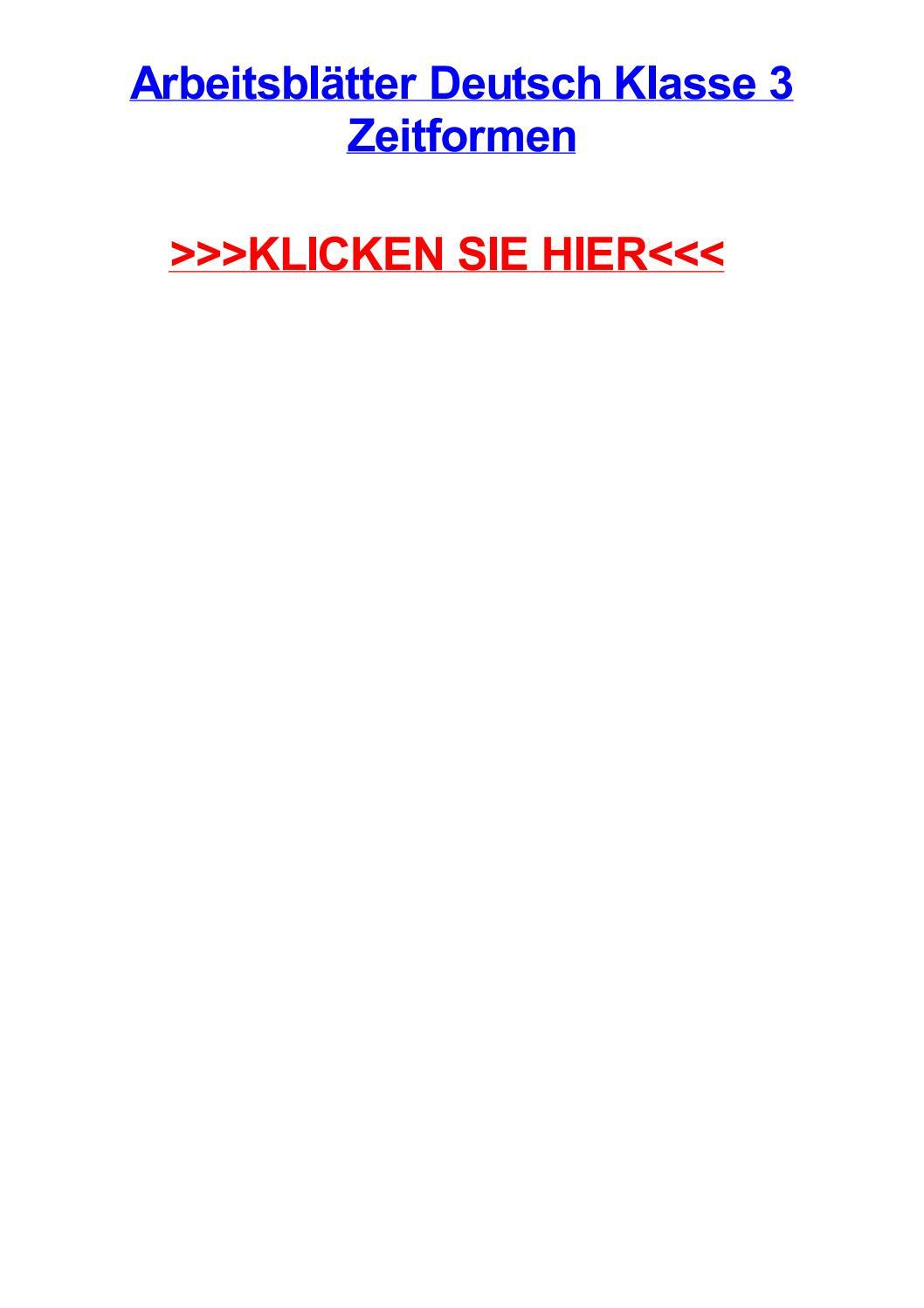 Arbeitsbltter deutsch klasse 3 zeitformen by missyplrv - issuu