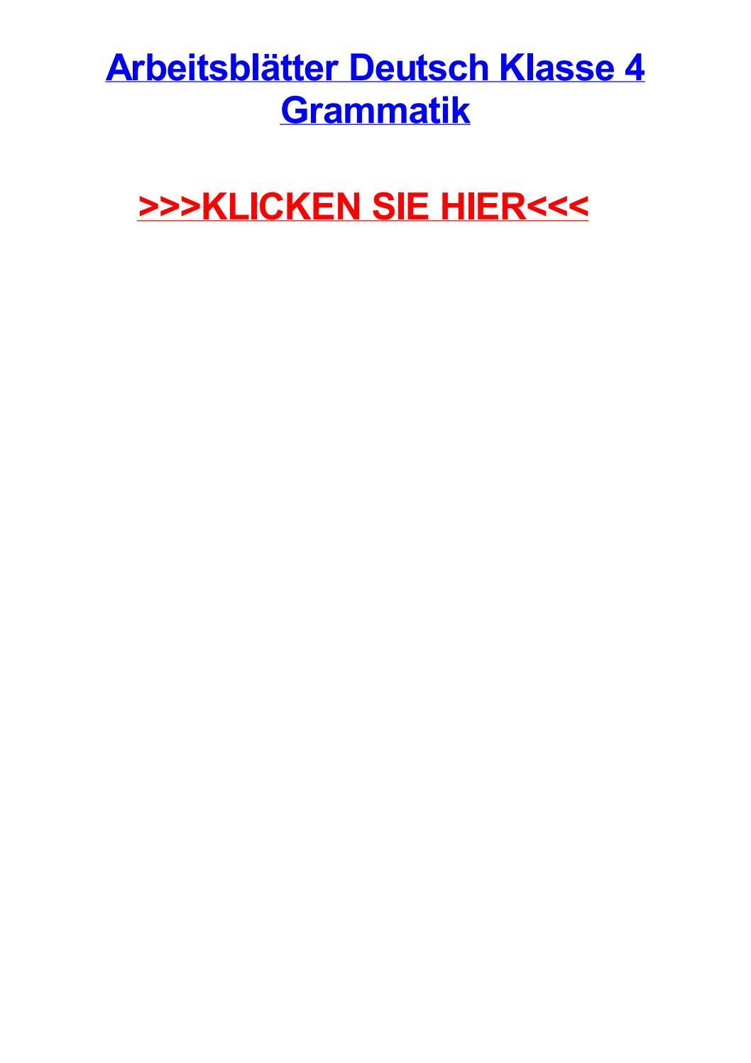 Arbeitsbltter deutsch klasse 4 grammatik by ashleyszph - issuu