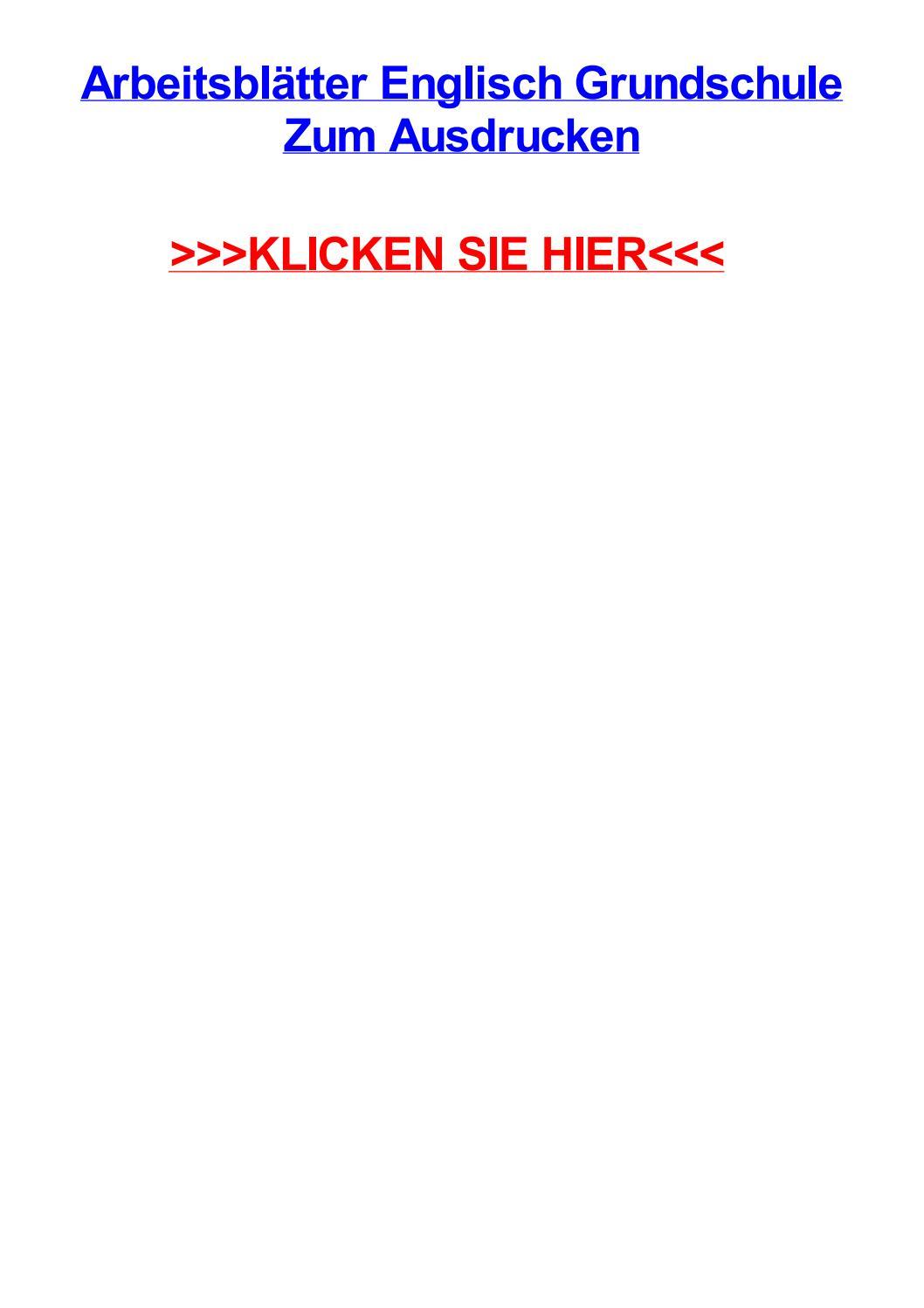 Arbeitsbltter englisch grundschule zum ausdrucken by amyxdjuv - issuu