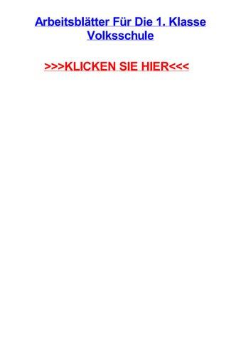 Arbeitsbltter fjr die 1 klasse volksschule by klaceercut - issuu
