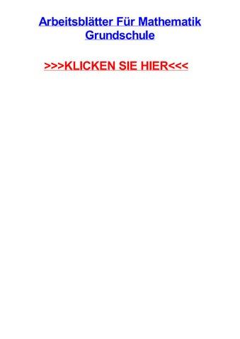 Arbeitsbltter fjr mathematik grundschule by jessicavcmv - issuu