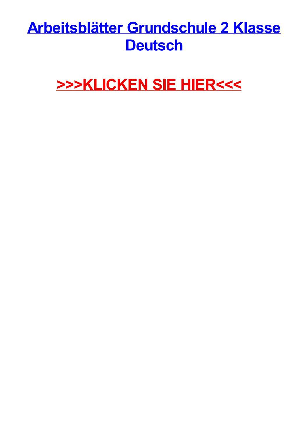 Arbeitsbltter grundschule 2 klasse deutsch by jonathannmjzu - issuu