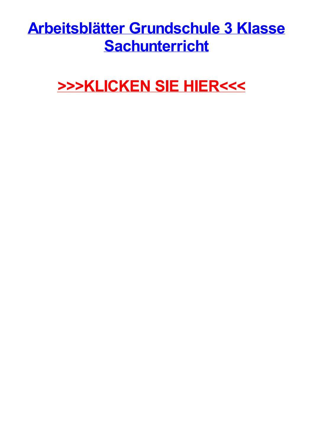 Arbeitsbltter grundschule 3 klasse sachunterricht by angelaiefki - issuu
