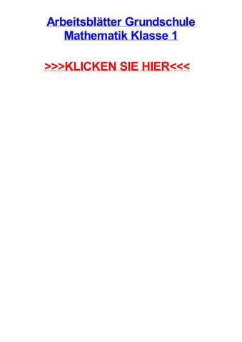 Arbeitsbltter grundschule mathematik klasse 1 by chazoitad - issuu