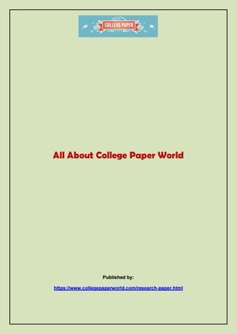 All About College Paper World By Stairrider