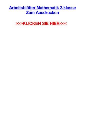 Arbeitsbltter mathematik 2 klasse zum ausdrucken by richardjrya - issuu