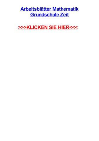 Arbeitsbltter mathematik grundschule zeit by brentfcqw - issuu