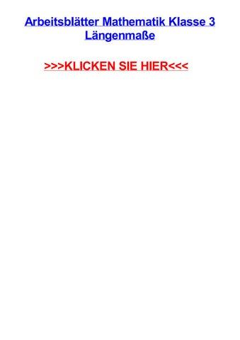 Arbeitsbltter mathematik klasse 3 lngenmae by omarjfeuk - issuu