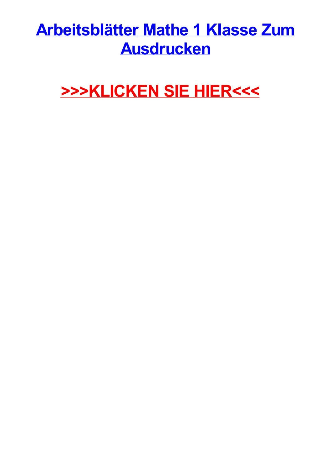 Arbeitsbltter mathe 1 klasse zum ausdrucken by athenasbyzntej - issuu