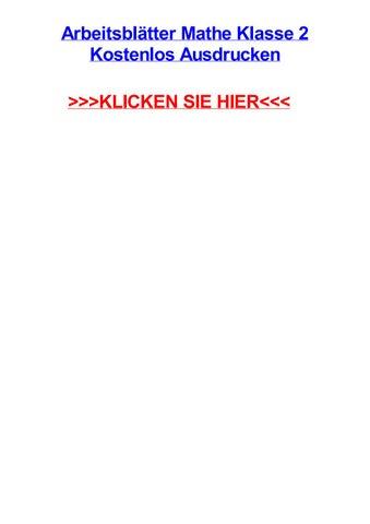Arbeitsbltter mathe klasse 2 kostenlos ausdrucken by brittanyhmsjf ...