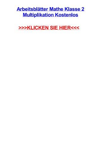 Arbeitsbltter mathe klasse 2 multiplikation kostenlos by ...