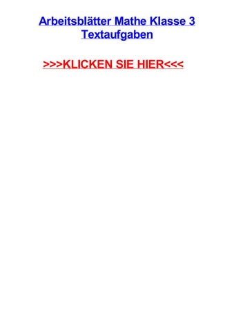 Arbeitsbltter mathe klasse 3 textaufgaben by lettyzooie - issuu