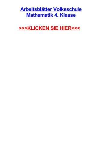 Arbeitsbltter volksschule mathematik 4 klasse by jeannielzza - issuu