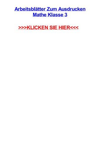 Arbeitsbltter zum ausdrucken mathe klasse 3 by aubreyowyox - issuu