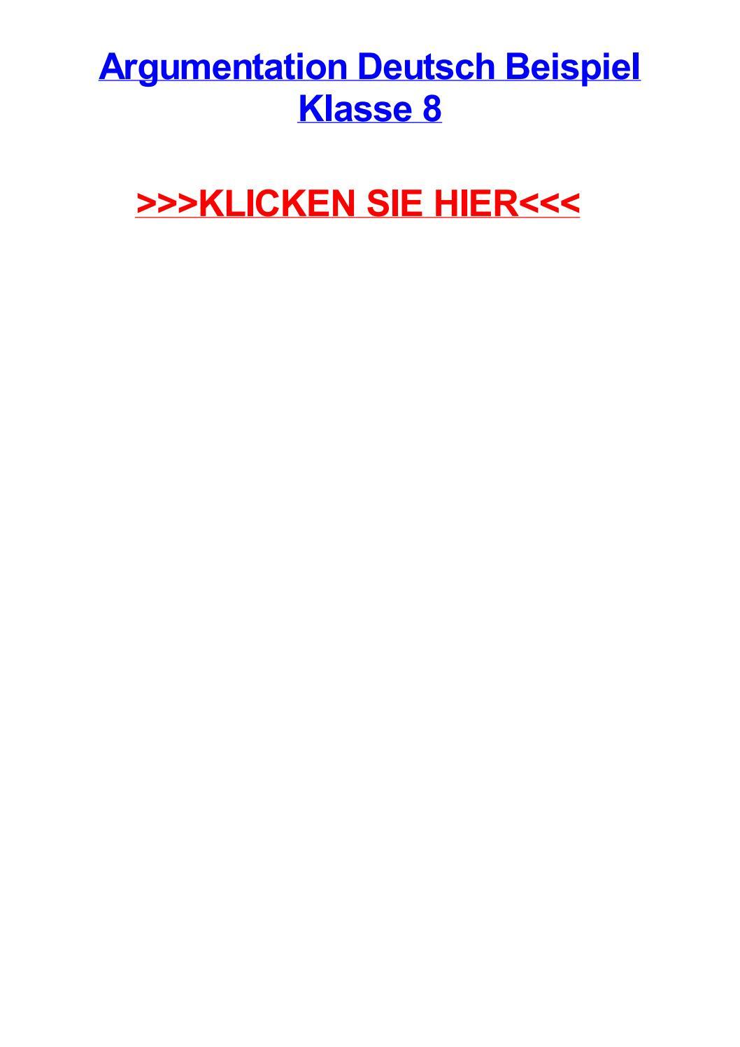Argumentation deutsch beispiel klasse 8 by gabrielxxkm - issuu