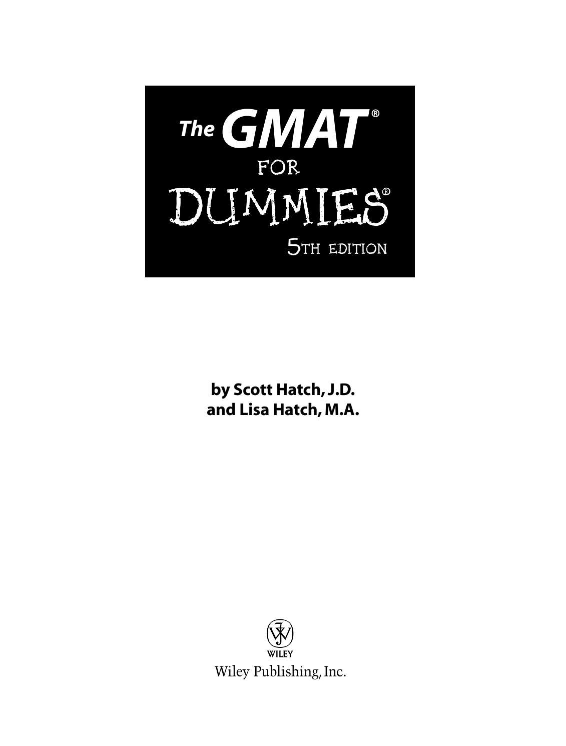 The gmat for dummies 5th by serpzen - issuu