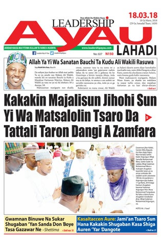Leadership A Yau 18 Ga Maris 2018 by Leadership Newspapers Nigeria