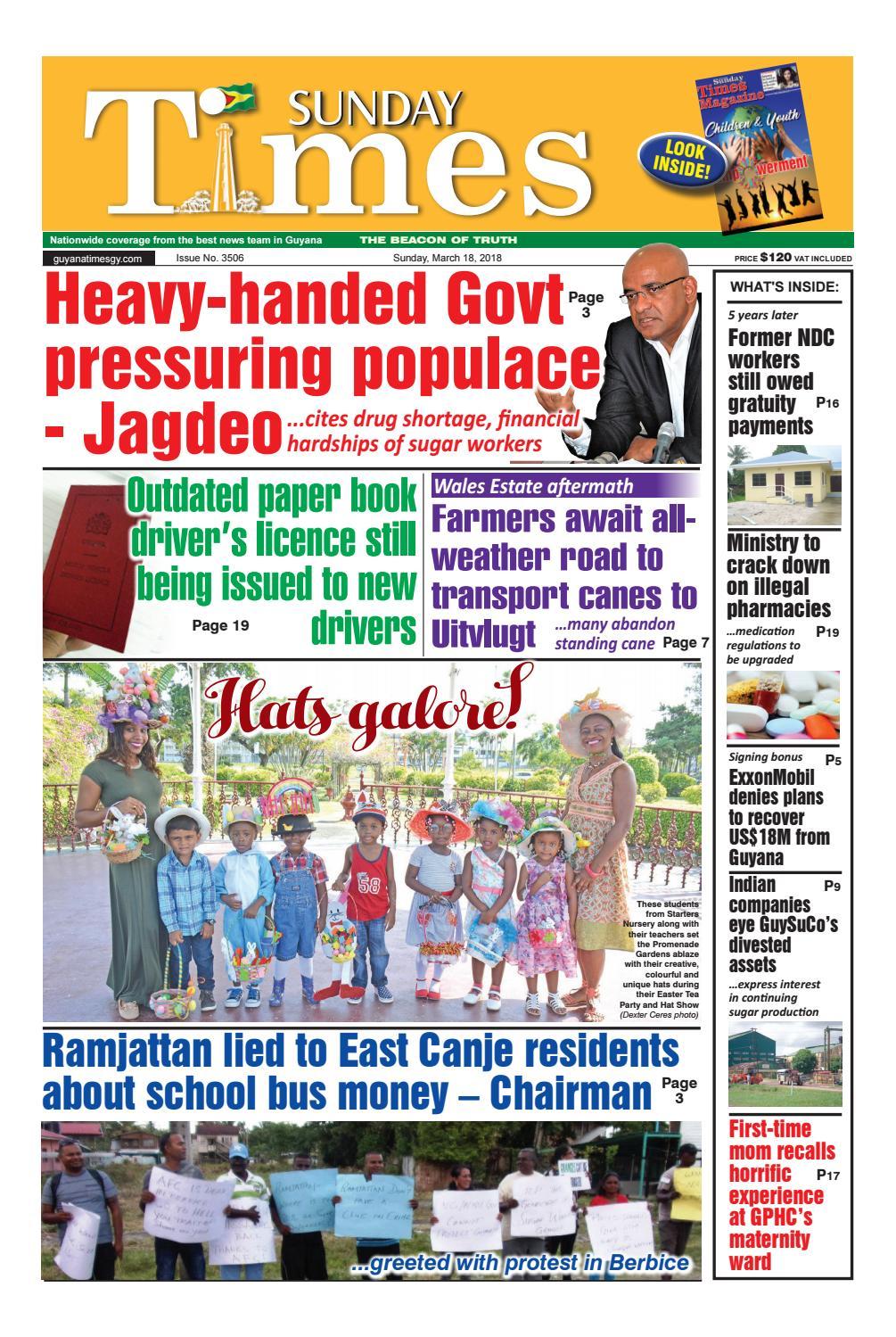Guyanatime 18 march 2018 by Gytimes - issuu
