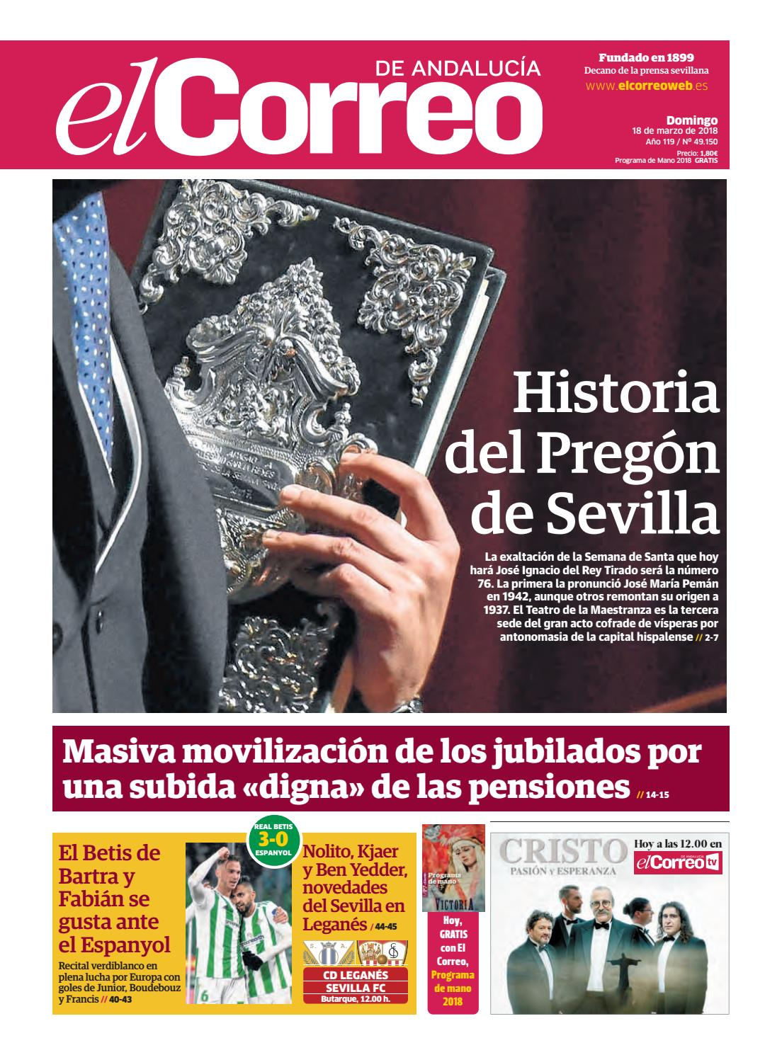 18.03.2018 El Correo de Andalucía by EL CORREO DE ANDALUCÍA S.L. - issuu 0f5d77b450225
