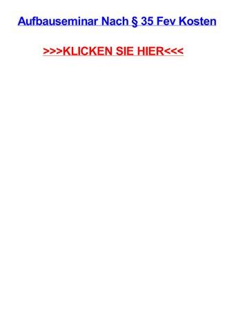 Aufbauseminar nach 35 fev kosten by daledjmsr - issuu