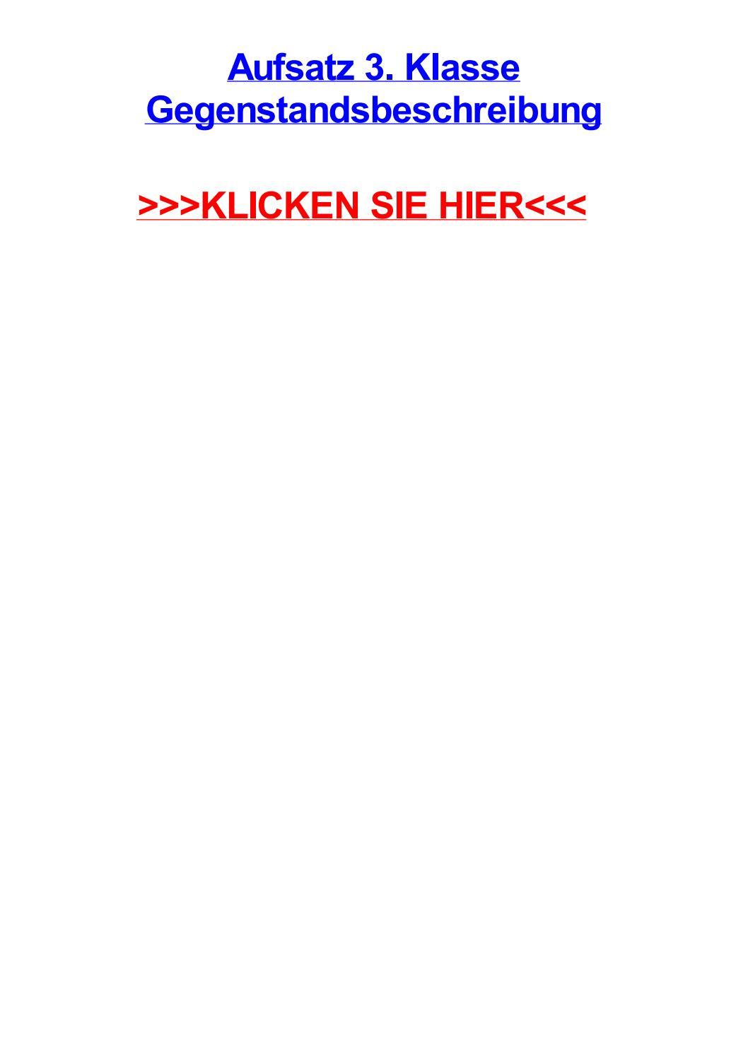 Aufsatz 3 klasse gegenstandsbeschreibung by tinaouzgm - issuu
