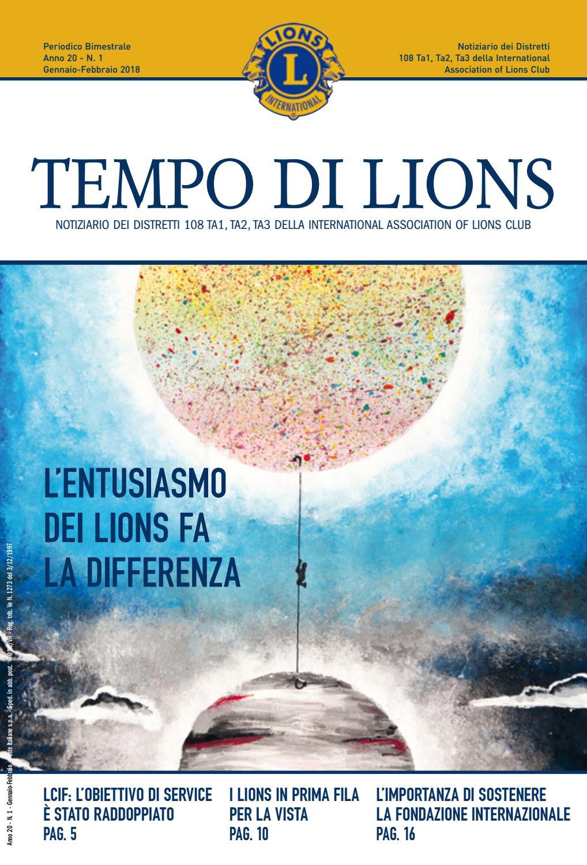 Tempo Lions Febbraio 2018 By Distretto Lions 108ta1 Issuu