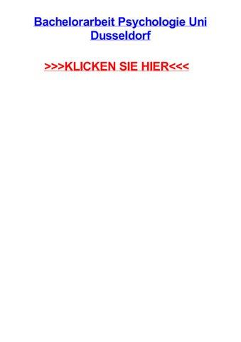 Bachelorarbeit Psychologie Uni Dusseldorf By Aaronvogm Issuu