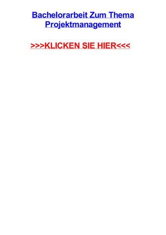Master thesis themen projektmanagement deutsch aufsatz schilderung beispiele