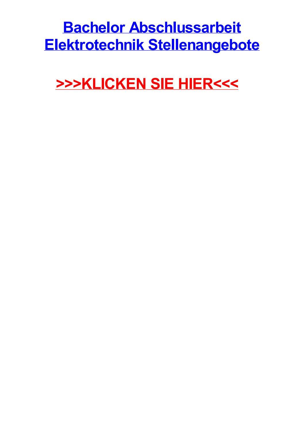 Bachelor abschlussarbeit elektrotechnik stellenangebote by ...