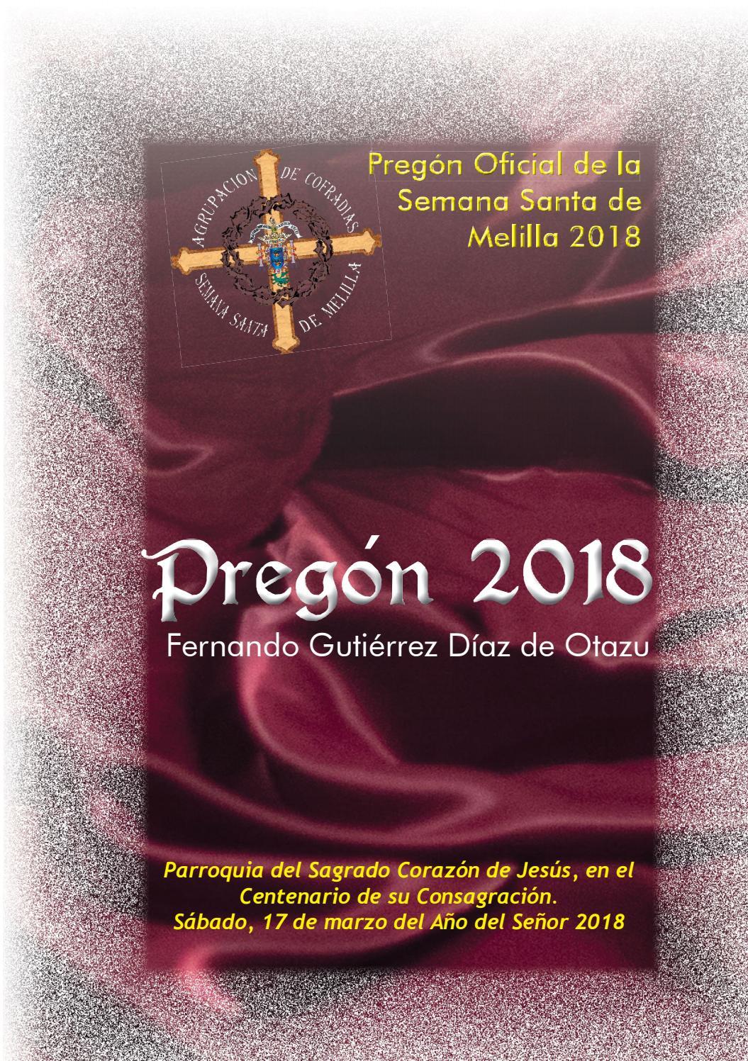 Pregón 2018 by Carlos Rubiales Morales - issuu