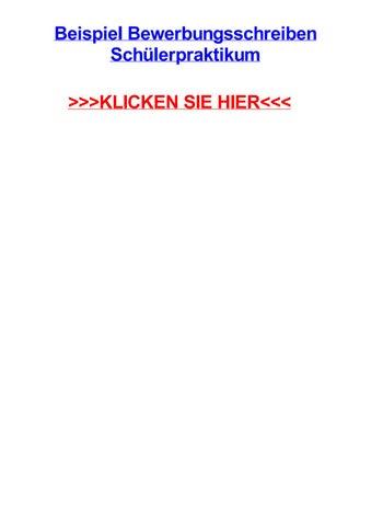 Beispiel Bewerbungsschreiben Schjlerpraktikum By Aarondskj